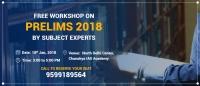 UPSC Workshop in Delhi on Prelims 2018 preparation