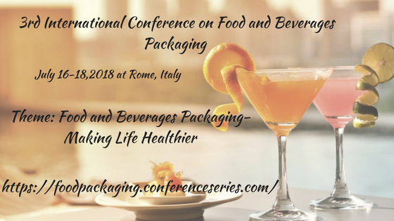 3rd International Conference on Food and Beverages Packaging, Rome, Lazio, Italy