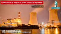 Inauguration of PG program in Quality and Industrial Engineering