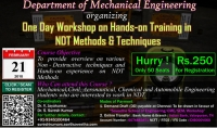 One Day Workshop on Hands-on Training in NDT Methods & Techniques