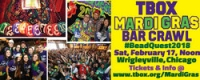 The TBOX Mardi Gras Bar Crawl - #BeadQuest2018