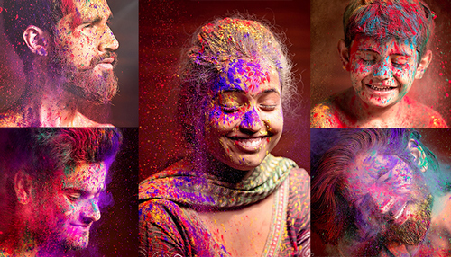 Colourful Pre Holi Photoshoot 2018 by Rishish Pandey, Mumbai, Maharashtra, India