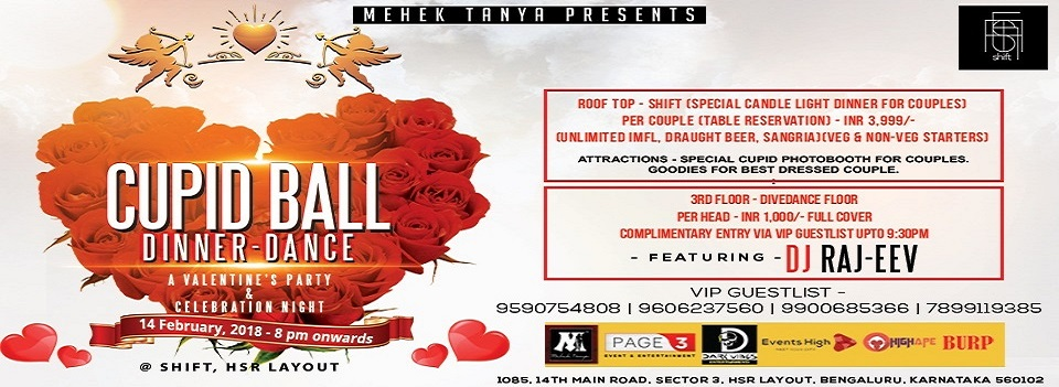 "Valentine's Celebration ~ ""Cupid Ball"" Dinner & Dancing Party, Bangalore, Karnataka, India"