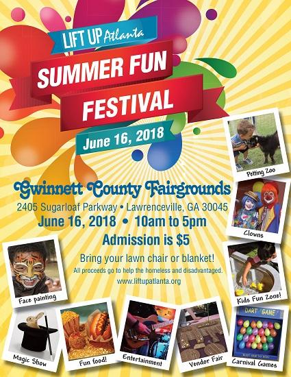 Lift Up Atlanta's 2018 Summer Fun Festival, Gwinnett, Georgia, United States
