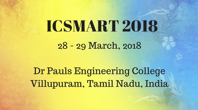 First International Conference on Sustainable Modern Advance in Research and Technology 2018, Viluppuram, Tamil Nadu, India
