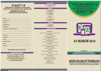 5th International Conference on Trends in Technology and Engineering ICTTE'18