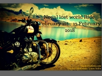 Motorcycle tours Nepal lost world Ride