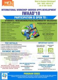 International Workshop on Android Application Development IWAAD'18