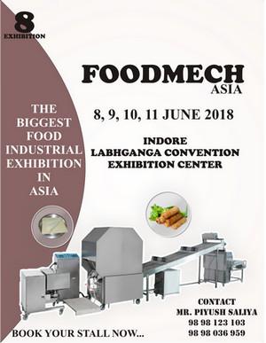 Food Mech Asia-Indore 2018, Indore, Madhya Pradesh, India
