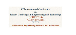 4th International Conference  on  Recent Challenges in Engineering and Technology (ICRCET-18), Pune, Maharashtra, India