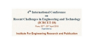 4th International Conference  on  Recent Challenges in Engineering and Technology (ICRCET-18)