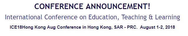 International Conference on Education, Teaching & Learning, Hong Kong, Hong Kong