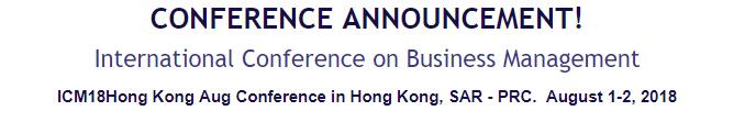 International Conference on Business Management, Hong Kong, Hong Kong