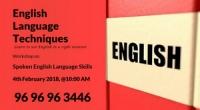 Engish Language Techniques