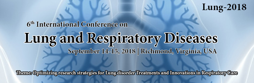 6th International Conference on Lung and Respiratory Diseases, Toronto, Ontario, Canada