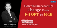 FREE Webinar: How To Successfully Change From F-1 OPT To H-1B