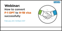 FREE Webinar: How To Convert F-1 Visa To H-1B Visa Successfully