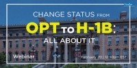 FREE Webinar: Change Status From OPT To H-1B All About It