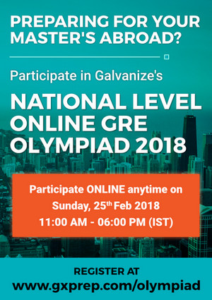 National Level Online GRE Olympiad, Chennai, Tamil Nadu, India