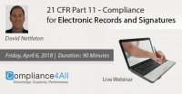 Compliance for Electronic Records and Signatures 2018