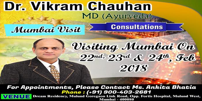 Ayurvedic Consultation in Mumbai - Dr Vikram Chauhan, Mumbai, Maharashtra, India