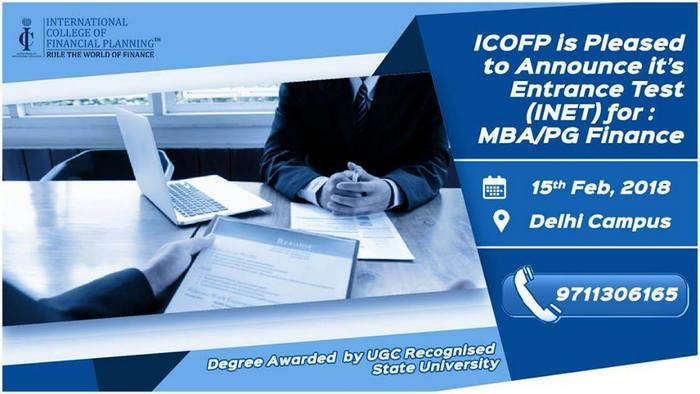 Entrance Test (INET) for MBA Finance, East Delhi, Delhi, India