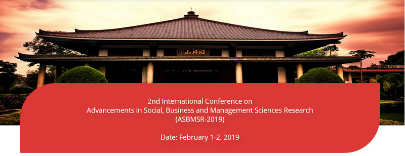 2nd International Conference on Advancements in Social, Business and Management Sciences Research (ASBMSR-2019), Tokyo, Japan