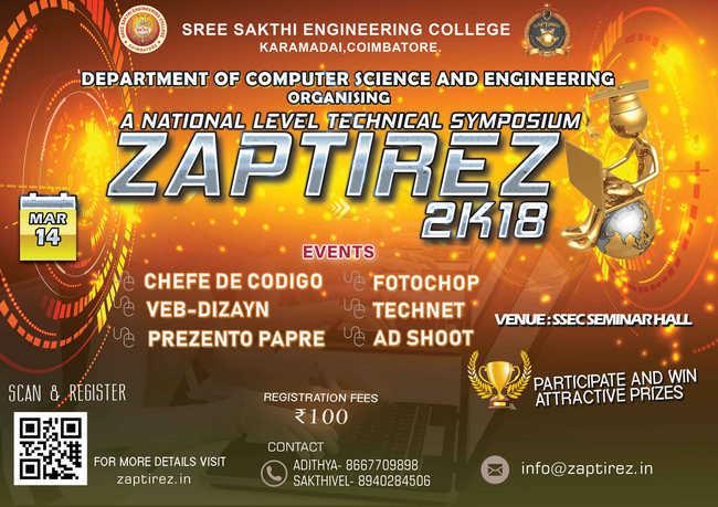 ZAPTIREZ-2K18, Coimbatore, Tamil Nadu, India