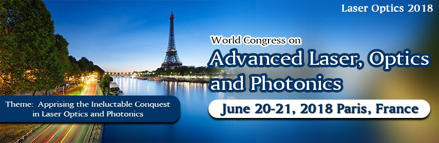 World Congress on Advanced Laser, Optics and Photonics, Paris, France