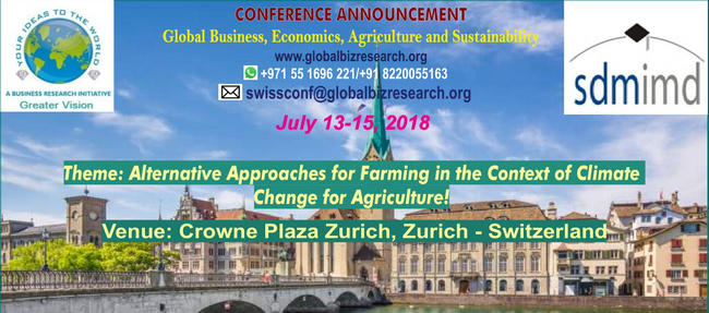Global Business, Economics, Agriculture and Sustainability, Zurich, Zürich, Switzerland