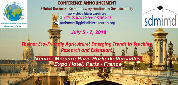 Global Business, Economics, Agriculture and Sustainability, Paris, France