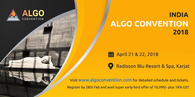 India Algo Convention 2018, Mumbai, Maharashtra, India