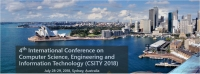 4th International Conference on Computer Science, Engineering and Information Technology (CSITY 2018)