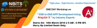 One Day Workshop on End To End App Development Using Angular 5