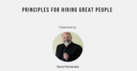 Principles of Hiring Great People