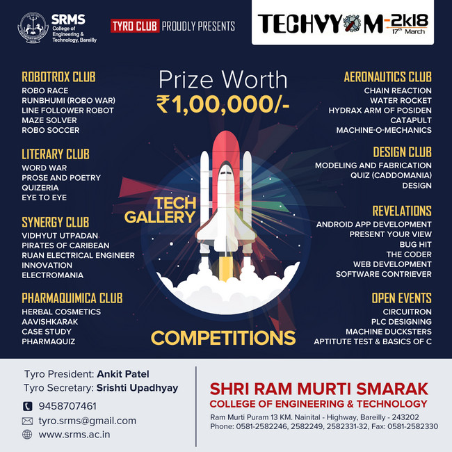 TECHVYOM 2K18, Bareilly, Uttar Pradesh, India