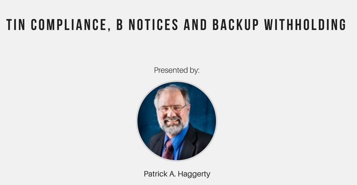 TIN Compliance, B Notices and Backup Withholding, Denver, Colorado, United States