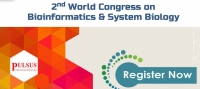 2nd World Congress on Bioinformatics & System Biology