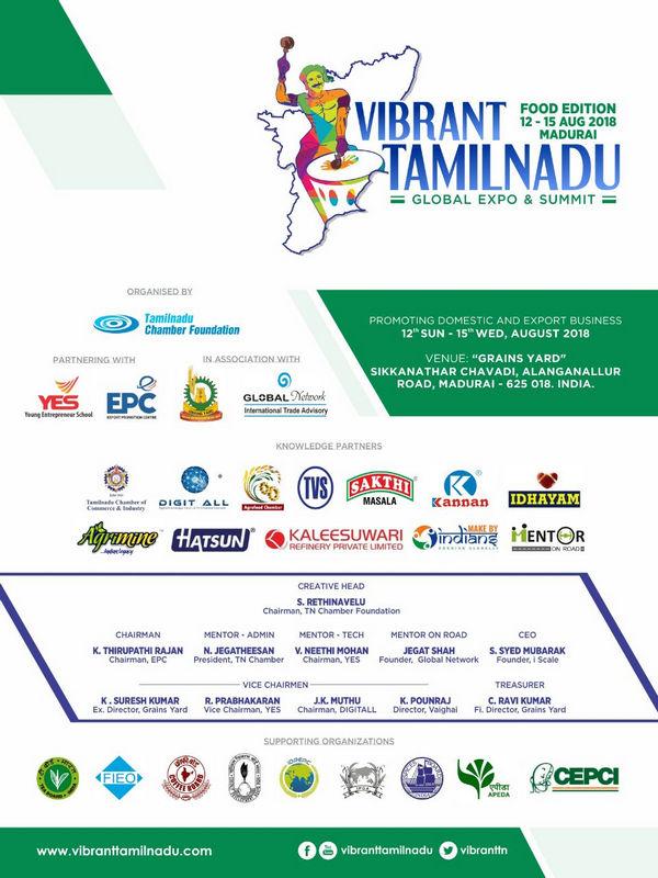 VIBRANT TAMILNADU - FOOD EDITION – 2018, Madurai, Tamil Nadu, India