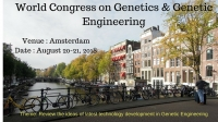 World Congress on  Genetics & Genetic Engineering