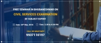 Free Seminar in Bhubaneswar for Civil Services Aspirants