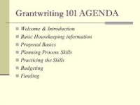 Grant Writing and presentation skills Course (May 7, 2018 to May 11, 2018 for 5 Days) -