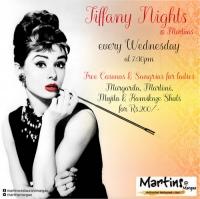 Tiffany nights at Martin's