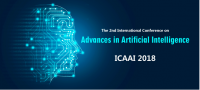2018 The 2nd International Conference on Advances in Artificial Intelligence (ICAAI 2018)--Ei Compendex, Scopus