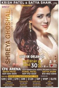 Shreya Ghoshal Live Concert in Orlando 2018