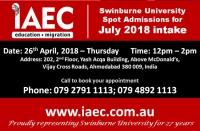 Spot Assessment Session of Swinburne University, Australia @ IAEC Education Ahmedabad