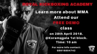 Be a part of our DEMO class on MMA in Koramangala on 28th April 2018.