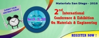 2nd International Conference and Exhibition on Materials & Engineering