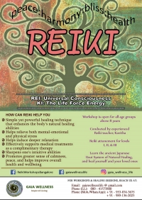 REIKI WORKSHOPS - MAY 2018