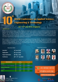 10th - World Conference on Applied Science Engineering and Technology (WCASET - 18)